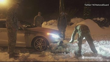 National guard rescues people, delivers food during snowstorm