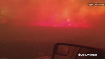 Intense footage shows bulldozer battling dangerous flames from Sierra Fire