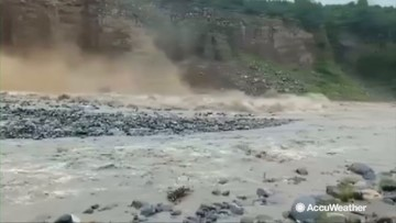 Homes inundated, roads damaged as heavy rain triggers landslides and flash flooding