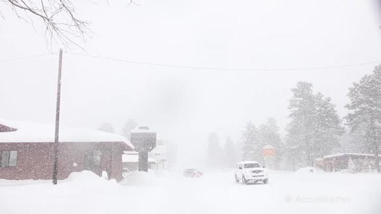 Significant heavy snowfall buries Flagstaff, Arizona