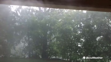 Intense downpour makes you glad to stay inside
