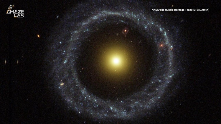 Scientists Don't Know How This Strange Ring Galaxy Formed