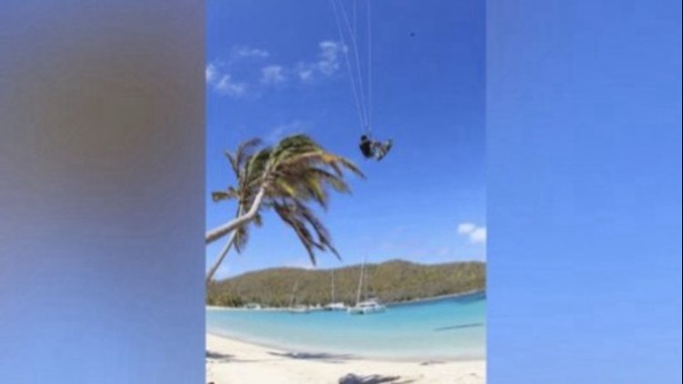 This Kitesurfer Launched Himself From a Coconut Tree!