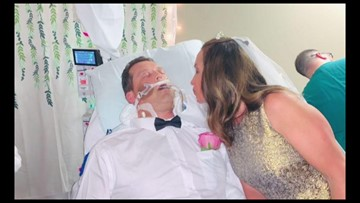 Ohio hospital's staff helps couple get married at groom's bedside