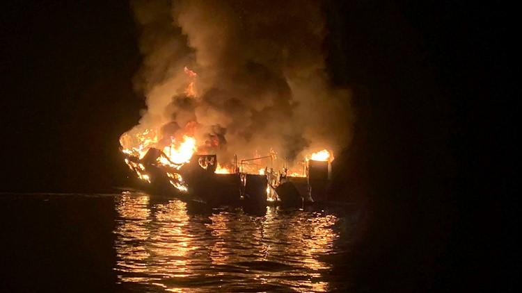APTOPIX Boat Fire California Conception