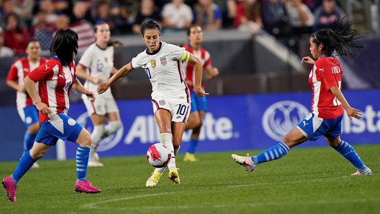 Carli Lloyd's retirement tour begins with 5 goals in US rout of Paraguay