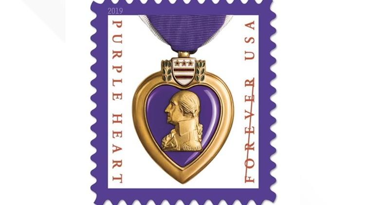 USPS STAMP PURPLE HEART MEDAL