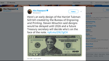 NYT obtains Harriet Tubman $20 bill design ahead of 2028 release