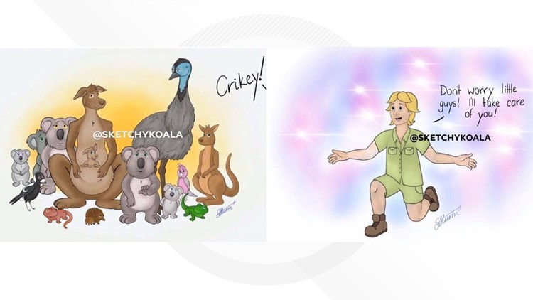 Steve Irwin Cartoon