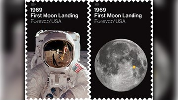 Apollo 11 stamps celebrate 50th anniversary of first moon landing
