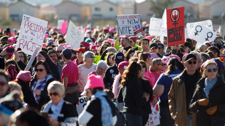 The demonstrations dubbed 'March to the Polls' are follow-ups to the Women's March movement following President Trump's election victory.