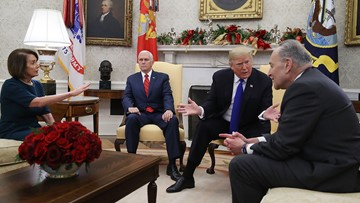 Trump escalates shutdown threat over border wall in heated White House meeting