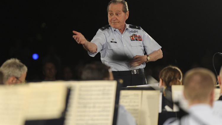 Conducting at 94   Colonel credits music for saving his life