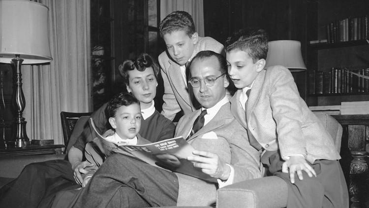 Jonas Salk family polio