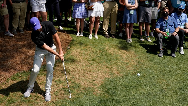 Fore, dad! Rory McIlroy hits his father with errant Masters shot