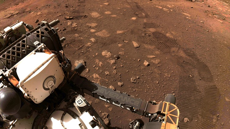 Mars Perseverance rover drives on Red Planet for 1st time