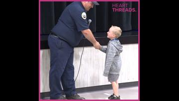 HeartThreads: Fire department honors kid hero