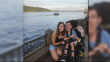He uses a wheelchair. She doesn't. Together, this couple proves all people deserve love