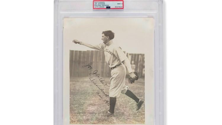 Autographed 1911 photo of Cleveland Naps legend Shoeless Joe Jackson sells at historic price
