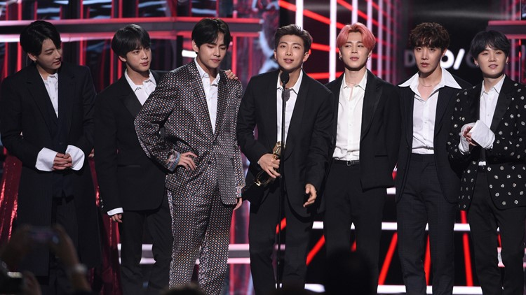 BTS accept the award for top duo group at 2019 Billboard Music Awards - Show