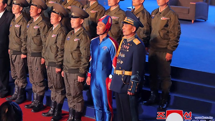'Captain DPRK': North Korean soldier in tight blue outfit generates buzz on social media