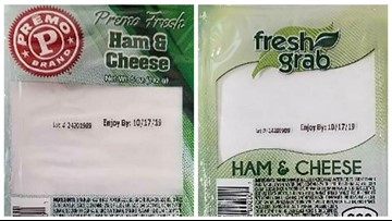 Ham and cheese wedge sandwiches recalled for Listeria