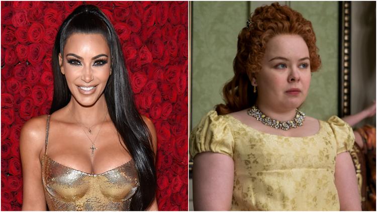 Kim Kardashian Asks to Come to 'Bridgerton' Set After Nicola Coughlan Reveals Kardashian Connection to Show