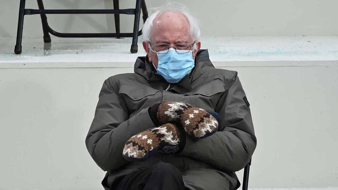 Bernie Sanders Reacts To Inauguration Mittens Memes Wkyc Com