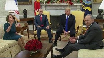 Trump bickers with Dems, threatens gov't shutdown