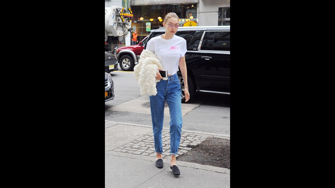 ac62c1430707 Make your thin specs vintage by taking the look even further with retro  narrow cat eye frames. Gigi Hadid wore a pair while out shopping on April  21