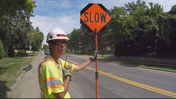 Work zone flaggers in Minnesota can now turn drivers in