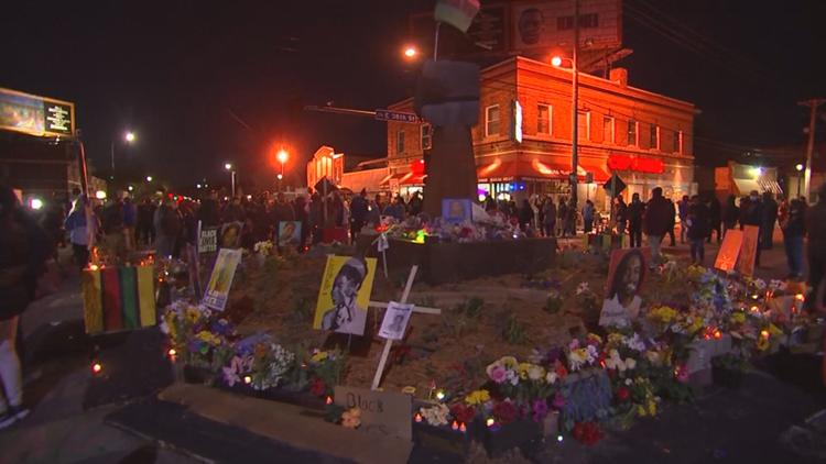 Crowds gather across Minneapolis following Derek Chauvin verdict