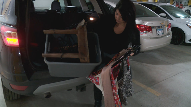 Jewell's car was loaded with items destined for consignment shop.
