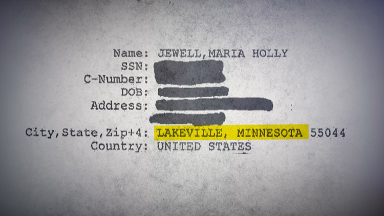 Jewell's internal VA records show agency had her correct Lakeville address in system.