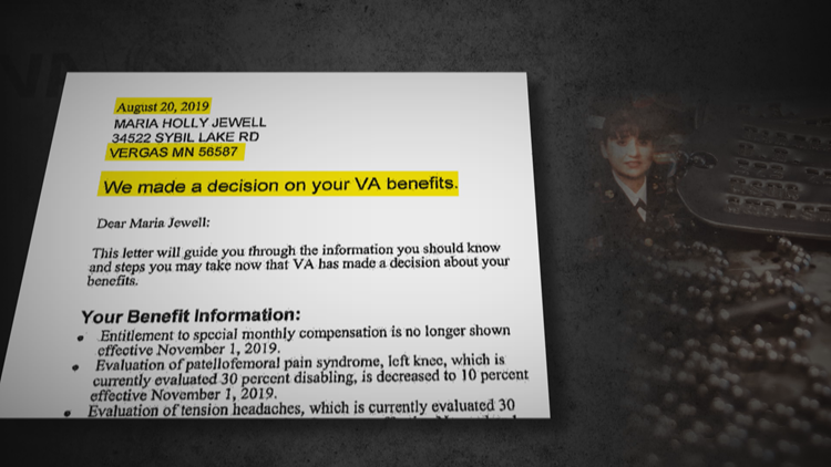 VA letter to Jewell sent to wrong address.
