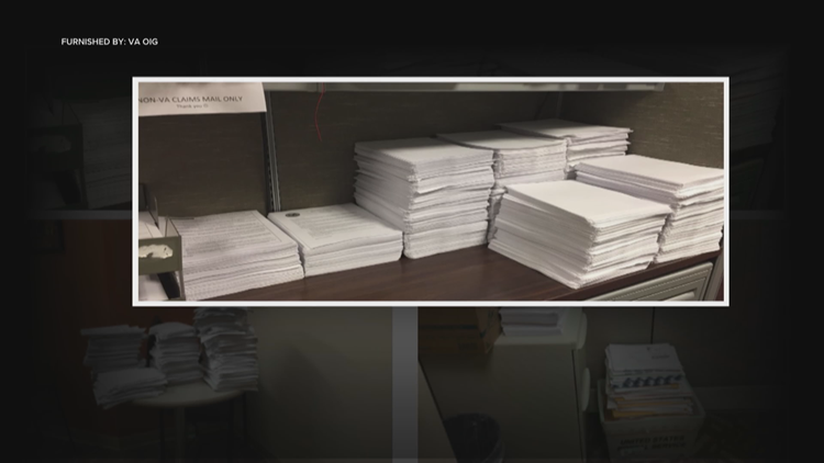 VA Inspector General found mail piling up in VA processing centers.
