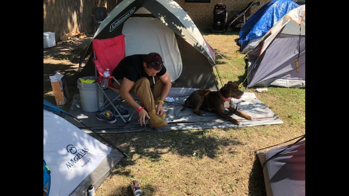 Tent city forms in Killeen after homeless shelter shuts down