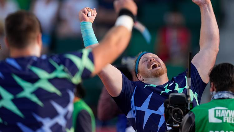 Ryan Crouser shatters shot put world record at U.S. Olympic Trials