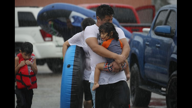 <p>Many homes and buildings have been severely damaged or are completely under water, and rescue efforts are still under way.</p>