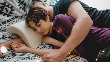 Someone invented a pillow that saves your arm from going numb while spooning
