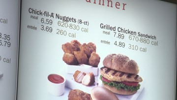 Starting Monday, all restaurant chains must have calorie counts on menus