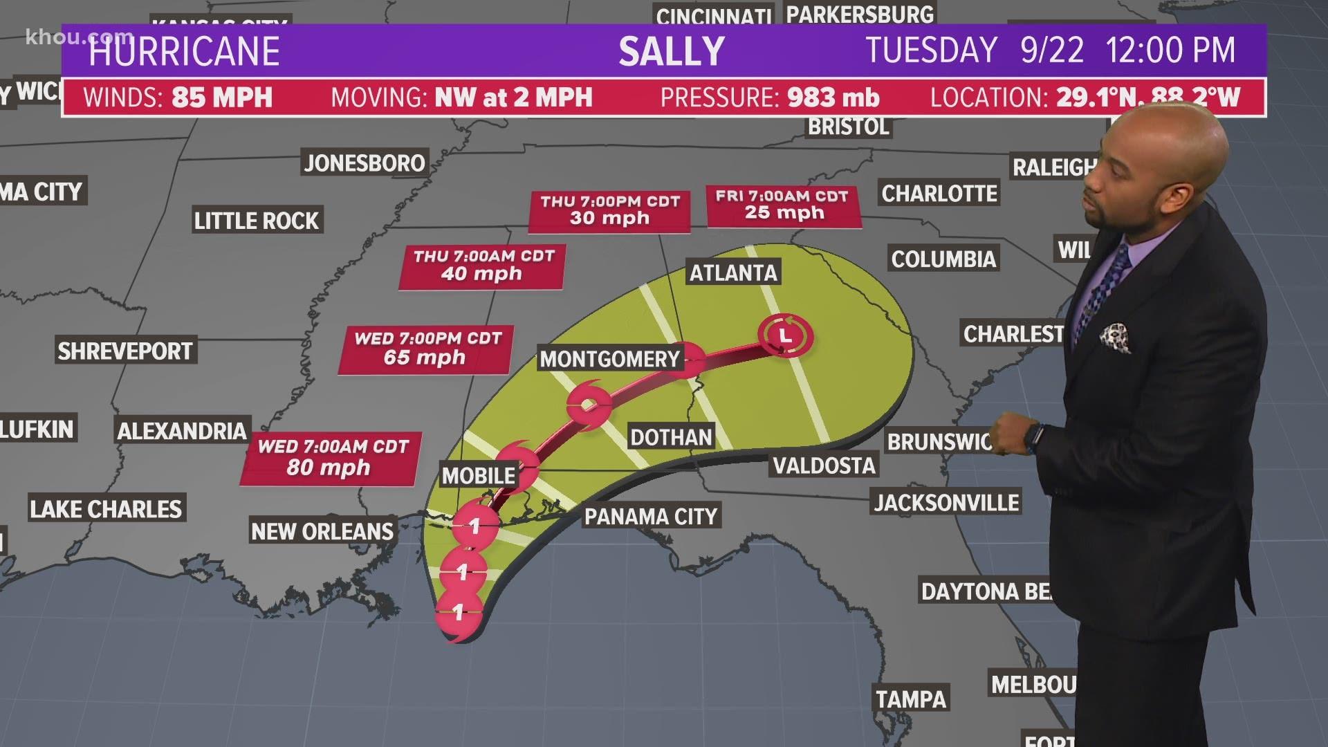 Hurricane Tracker Sally Slows To A Crawl Toward Gulf Coast Wkyc Com