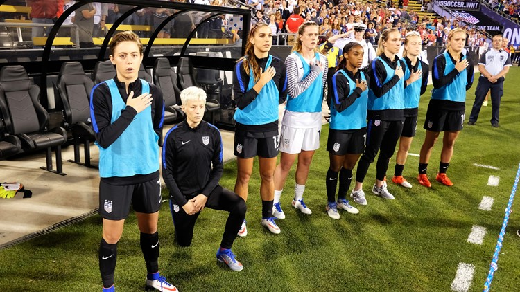 Trump says US soccer star Megan Rapinoe wrong to protest during anthem