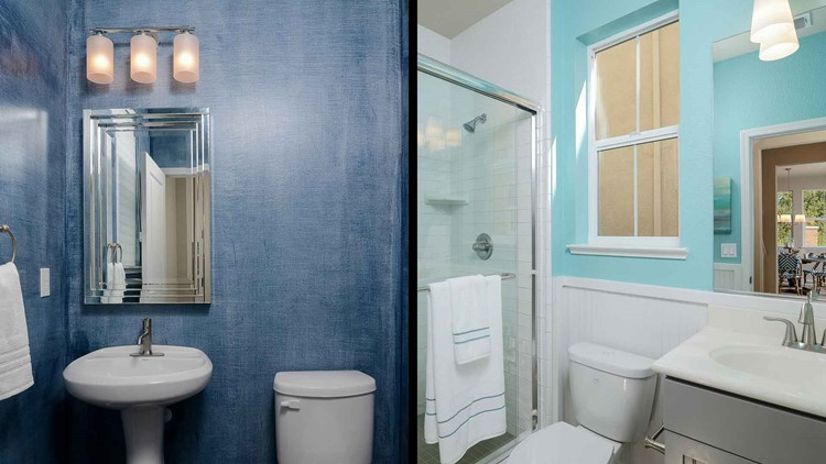 <p>A bathroom painted blue, particularly powder blue or light periwinkle, helped homes sell for $5,440 more than expected.</p>