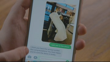 Strangers bless bride with wedding donations after wrong-number text