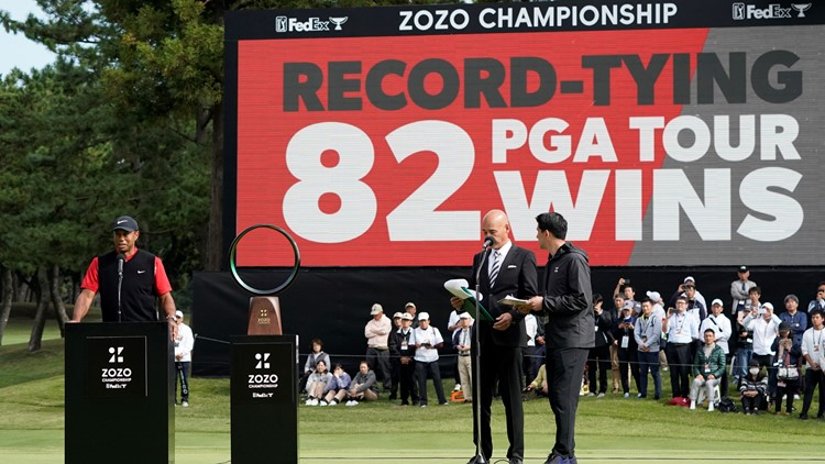 Tiger Woods ties Sam Snead's record of 82 PGA Tour wins