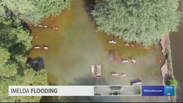 Coffins seen floating in Texas cemetery amid widespread flooding