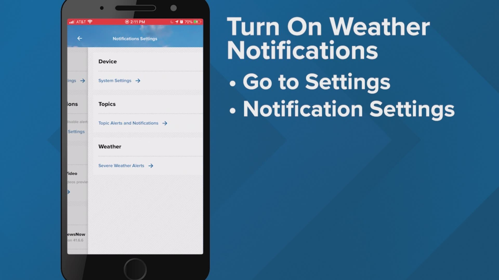 Here S How To Get Severe Weather Alerts Via The 12newsnow App Wkyc Com