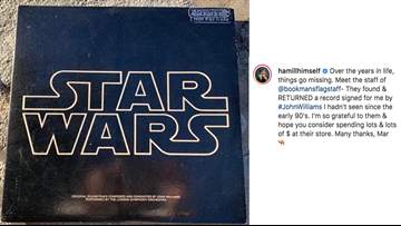 Mark Hamill thanks Arizona store for returning signed Star Wars record from composer John Williams