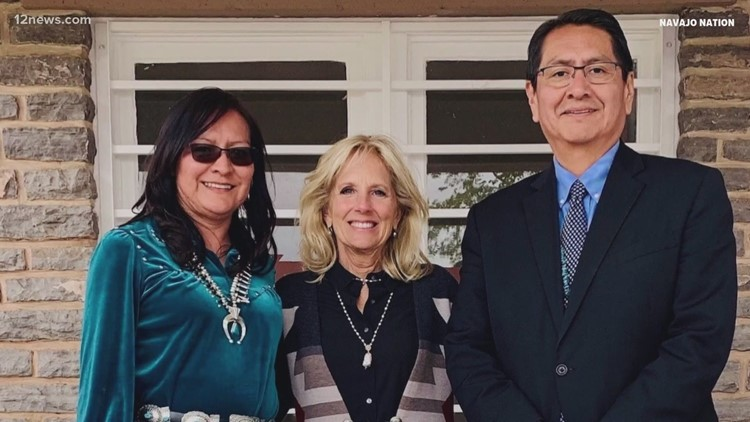 First lady Dr. Jill Biden visiting Navajo Nation Thursday